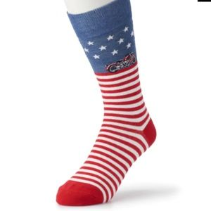 Men's Davco Patriotic Motorcycle Socks